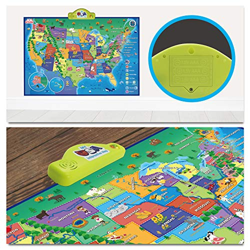 BEST LEARNING i-Poster My USA Interactive Map - Educational Talking Toy for Boys and Girls Ages 5 to 12 Years Old - Ideal Gift for Kids by BEST LEARNING (Image #8)