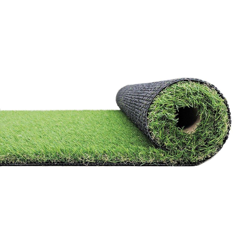 RURALITY Artificial Grass Turf Fake Grass forパティオ、庭、バルコニー装飾, 3.3'x7' (20mm) B07DKXJSXQ  3.3'x7' (20mm)
