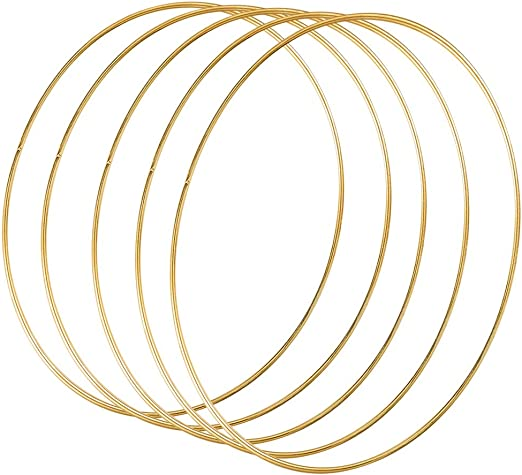 Bracelets Gold Craft Rings for DIY Crafts Craft Lovers Accessories Anklets A 14 Pieces Metal Rings Metal Rings Hoops Wire Craft Rings Set Pendants