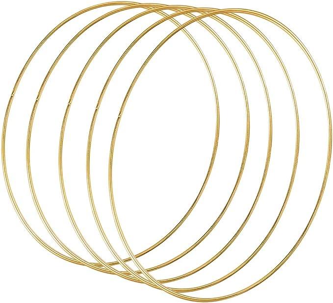 Floristik DIY Handwerk Basteln Traumf/änger Hochzeitskranz YuChiSX 14 St/ück 35cm Gold Metallring Makramee Ringe Floral Hoops Ringe Kranz f/ür Wickeltechnik