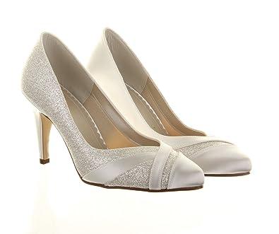 88007e7f6b3 Rainbow Club Mila Extra Wide Ivory Wedding Shoes Size 7  Amazon.co.uk  Shoes    Bags