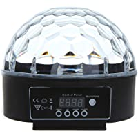 Galapara Digital LED RGB Crystal Magic Ball Effect Light DMX 512 Disco DJ Stage Lighting