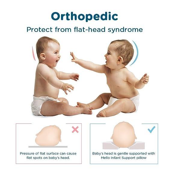 Almohada para Bebé por Mello: Almohada Ortopédica para Bebés ...