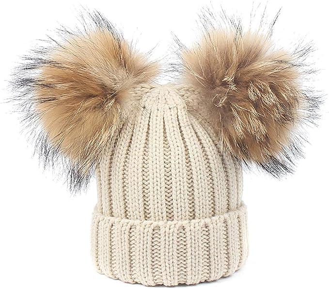 Women /& Kids Cute Knit Winter Warmer Mittens Gloves Cartoon Bear Raccoon