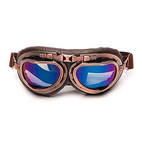 f08dffecfd6096 LEAGUE CO Vintage Lunettes de Moto Aviateur ATV Ski Équitation Protection  Masque
