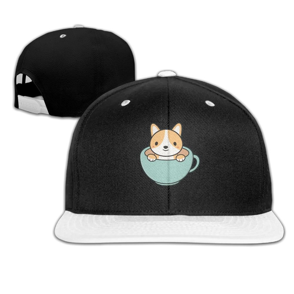 Humaoe Corgi Dog is Kawaii Cute Fashion Peaked Baseball Caps//Hats Hip Hop Cap Hat Adjustable Snapback Hats Caps for Unisex