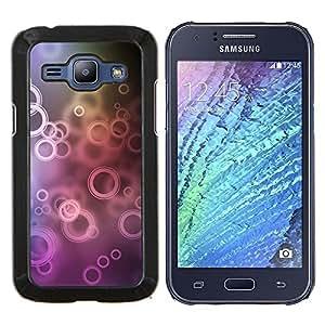 For Samsung Galaxy J1 J100 Case , Círculos- Diseño Patrón Teléfono Caso Cubierta Case Bumper Duro Protección Case Cover Funda