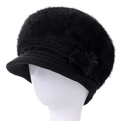 XJDMG Sombrero de Punto Wool Hat Gorra Las Nuevas Mujeres De ...