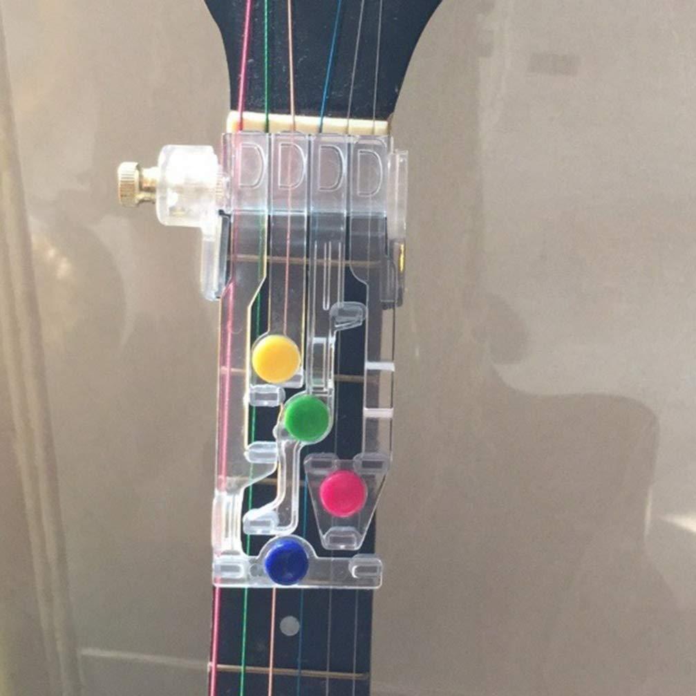Exceart Sistema de Aprendizaje de Guitarra Entrenador de Acordes de Guitarra Cl/ásica Ayuda de Ense/ñanza Compa/ñero de Guitarra de Acordes con Una Herramienta de Pr/áctica de Sintonizador Crom/ático de Sinton/ía Verdade