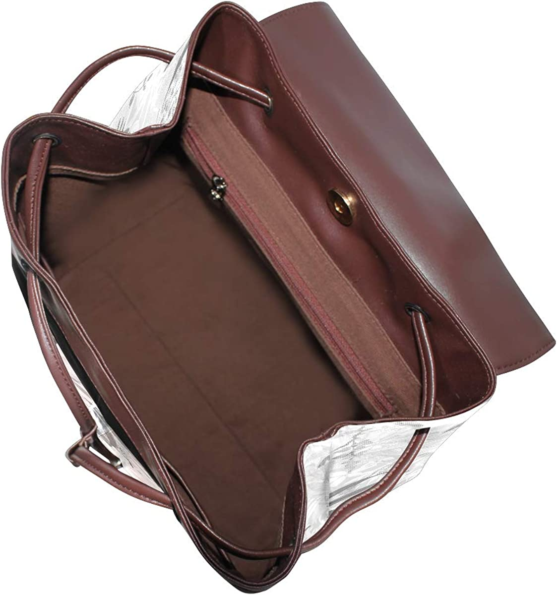 PU Leather Shoulder Bag,Diamond Feather Backpack,Portable Travel School Rucksack,Satchel with Top Handle