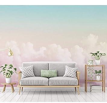 Rureng 5D / 8D Personalizado Pink Cloud 3D Cartoon Wallpaper ...