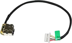 GinTai DC Power Jack Port Harness Cable Replacement for HP Compatible with 15-AB Series CBL00666-0170 796086-001