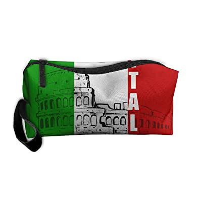 DuoleFu Roman Colosseum Italy Italian Flag Multifunction Portable Make-up Mini Bag Makeup Bag Sewing Kit Medicine Bag Cosmetic Bag For Home Office Travel Camping Sport Gym Outdoor