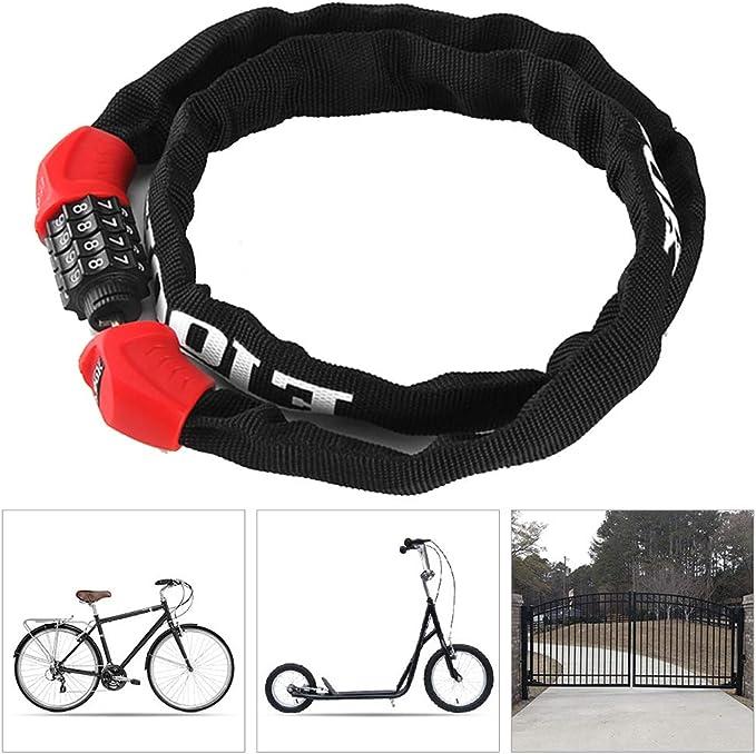 Candado Bicicleta alta Seguridad,Cerradura de Combinación de 4 ...