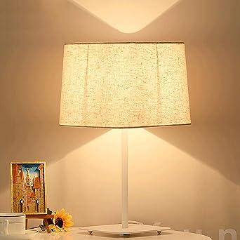 JHBJ Leuchten Einfache Dekorative Tuch Schlafzimmer Lampe Wohnzimmer Study  Moderne Kreative Nachttischlampe Dekorative Lampe