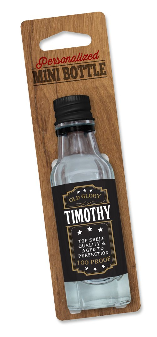 Personalized Mini Bottle Small Clear//Black Dimension 9 PMB - Timothy DIMF0