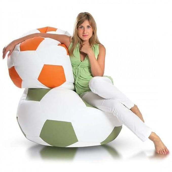 JUSTyou Pelota de fútbol Large Puff Cojín Gigante de Piel ...