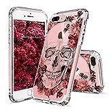 iPhone 7 Plus Case, Cool iPhone 7 Plus Case, MOSNOVO Floral Skull Flower ...