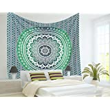 Traditional Jaipur Large Ombre Mandala Wall Tapestry, Bohemian Bedding Queen, Hippie Dorm Room Decorations, Indian Picnic Throw, Boho Beach Blanket