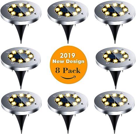 Solar Powered Ground Light Waterproof Garden Lights With 8 LEDs Solar Lamp