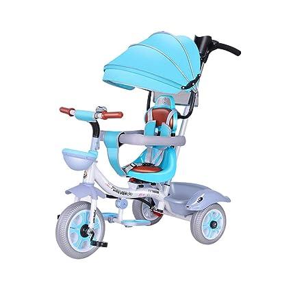 Triciclo para niños 4 en 1 para niños de 3 a 6 años Carrito de bebé