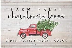 """Simply Said, INC Rustic Pallets, Farm Fresh Christmas Trees- 16"""" x 10.75"""" Wood Sign RUS1270"""