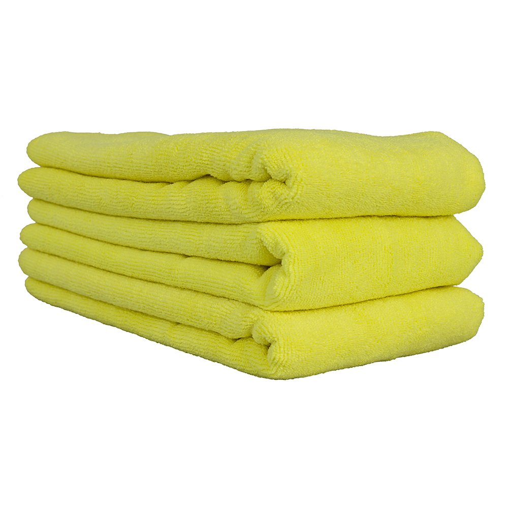 Chemical Guys MIC36503 Workhorse XL Yellow Professional Grade Microfiber Towel 24 x 16 3 Pack