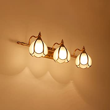 WAZY Vintage Wandleuchte Spiegel Lampe LED Badezimmer Lampe - Badezimmer spiegellampe