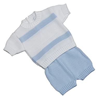 New In Spanish Baby Boat Knitted Top Short Set Amazon Co Uk