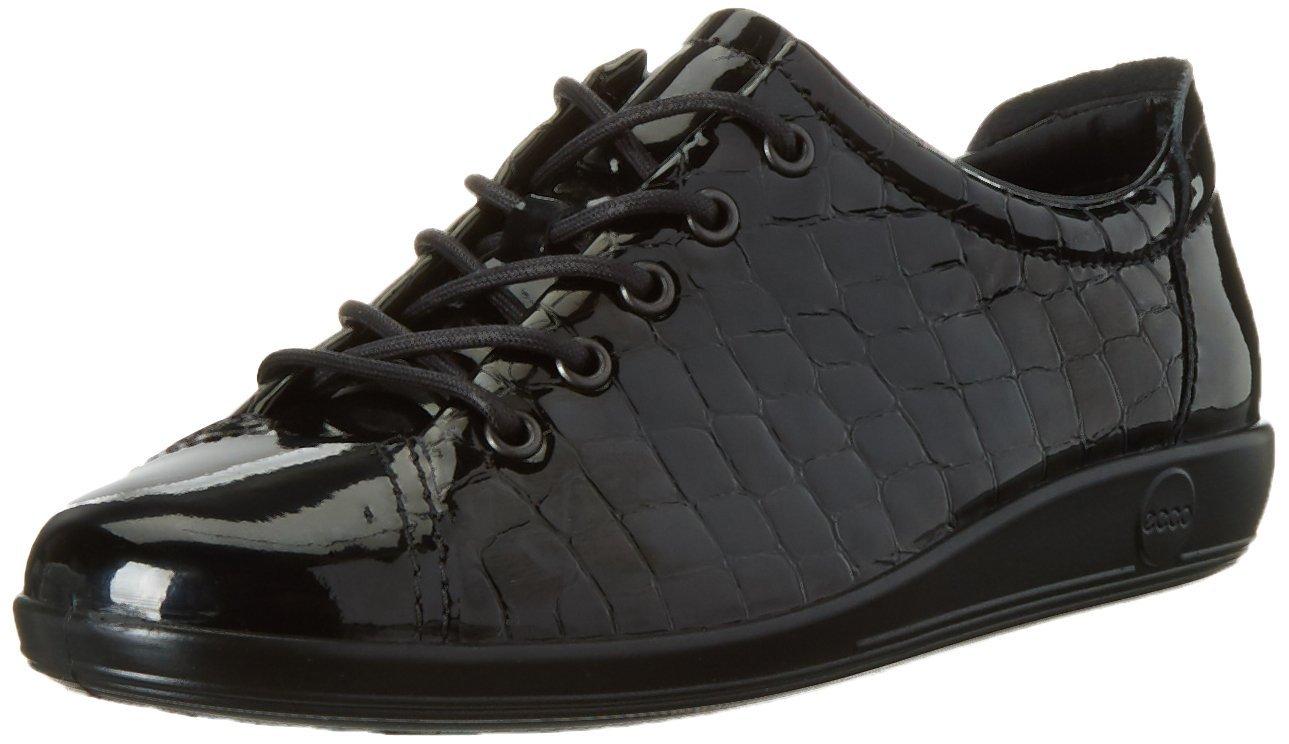 Ecco Soft 2.0, Zapatos de Cordones Derby para Mujer 38 EU|Negro (Black51052)
