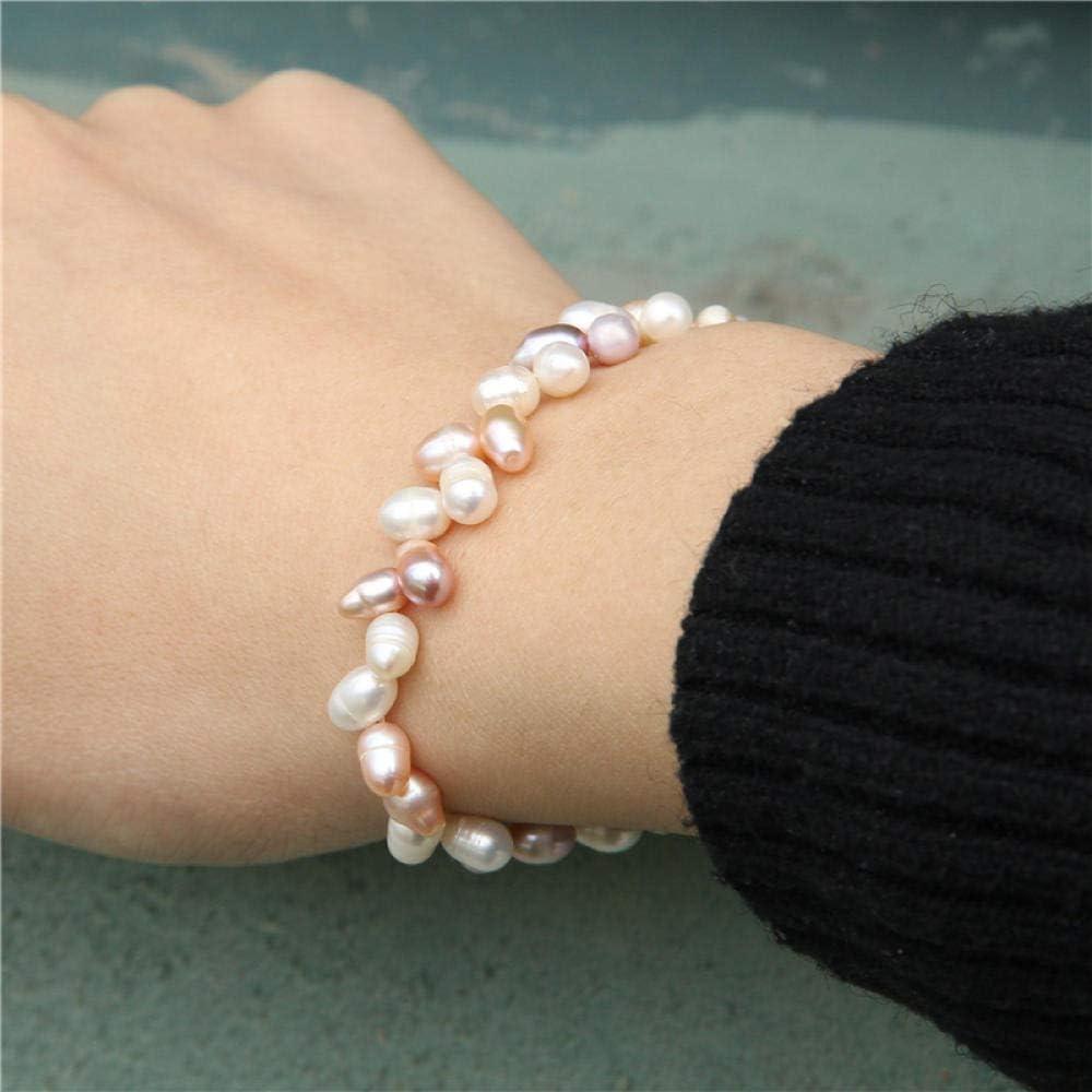 Pulseras Brazalete Joyería Mujer Pulseras De Perlas Joyas Hechas A Mano para Mujer Pulsera De Perlas Irregulares