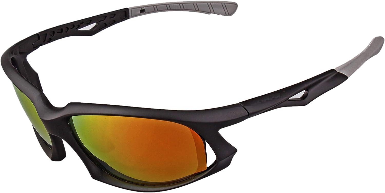 Peloton Sport Sunglasses with Case - No-Slip for Cycling, Biking, Running