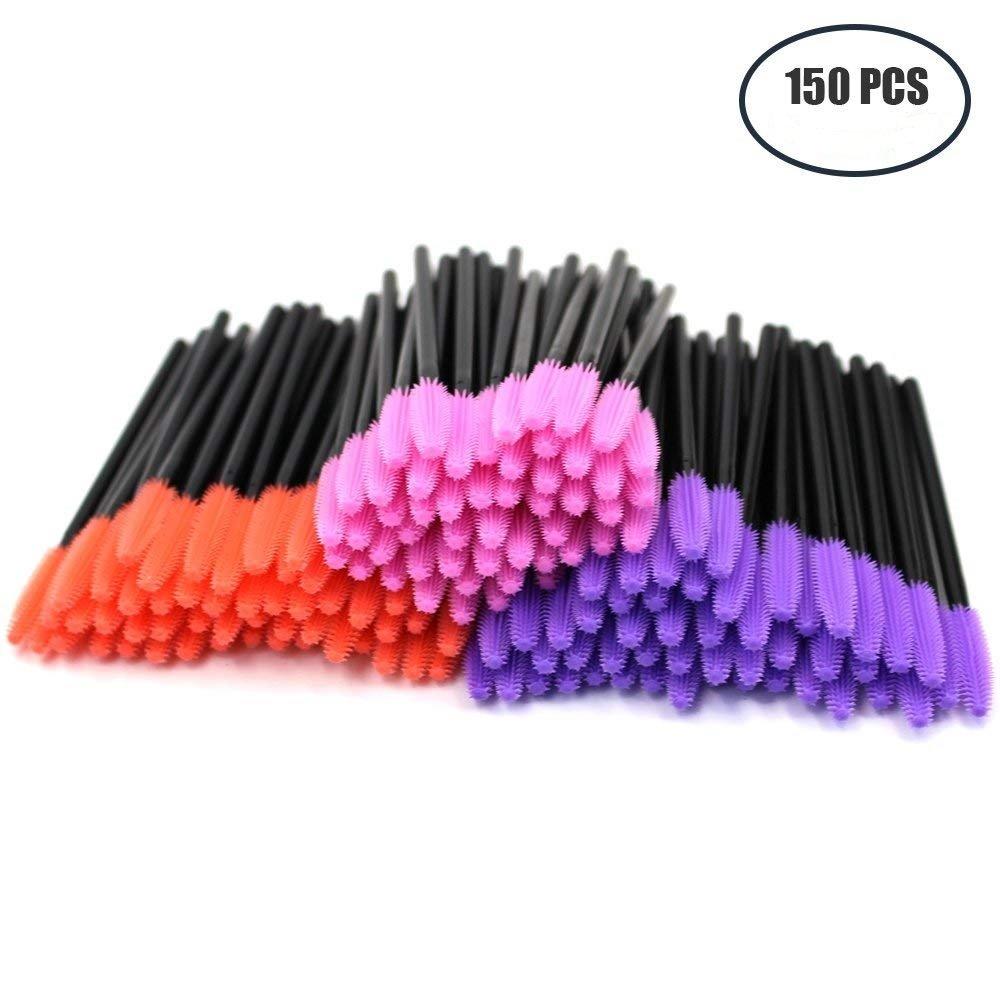 M-Aimee 150 Pcs Disposable Eyelash Mascara Wands Applicator Silicone Gel Head