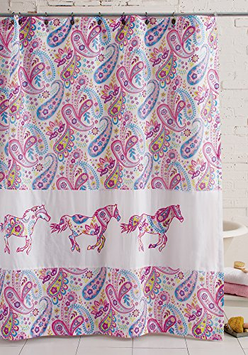 (Levtex Pony Paisley Shower Curtain )