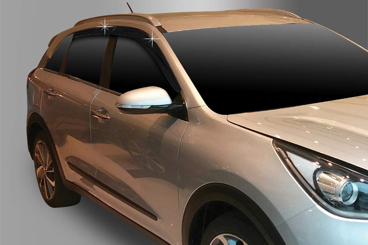 AUTOCLOVER Smoked Rain Guards Deflectors 4p for 2020 KIA NIRO Hybrid /& NIRO Plug-in Hybrid