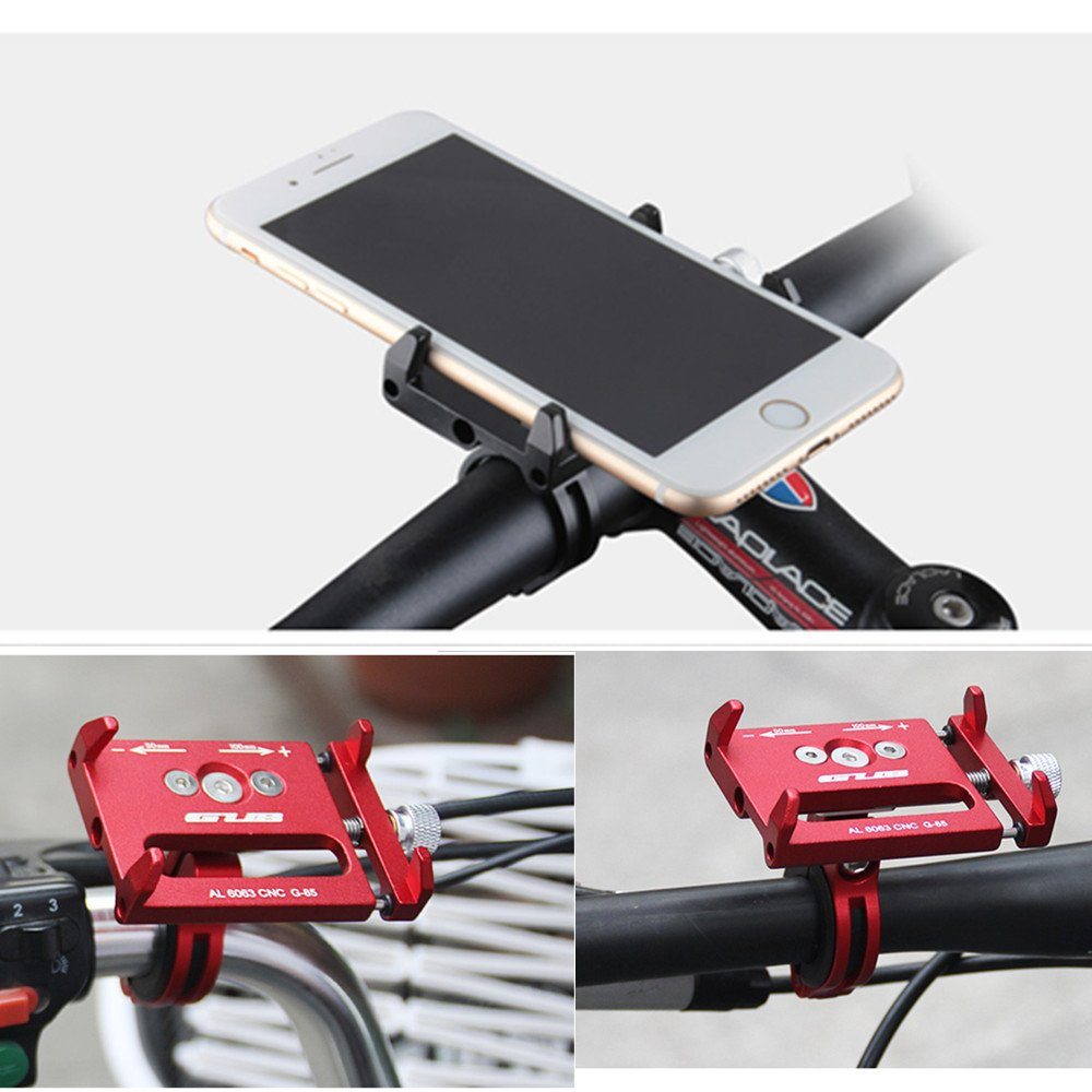 silver GUB Universal Bike Phone Mount Holder,Aluminum Alloy Bicycle/& Motorcycle Handlebar Phone Mount,360 Rotation Adjustable Fit for iPhone 7//6s//6//5s//5c,Samsung S7//S6//S5//Note 5//4//3,Nexus,Huawei