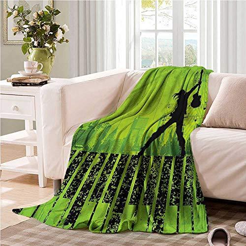 Oncegod Comfort Blanket Popstar Party Music in The City Bedding Throw, or Blanket Sheet 91