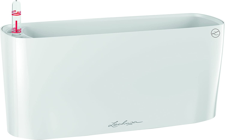 Lechuza 15460 Delta 10 Self-Watering Garden Planter, 30cm, White High Gloss