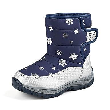 83ccc6c31df44 Moonuy Unisexe Enfants Bottes de Neige Bottes Hiver Laine Anti Slip Hiver  Cheville Bottes pour Garçons