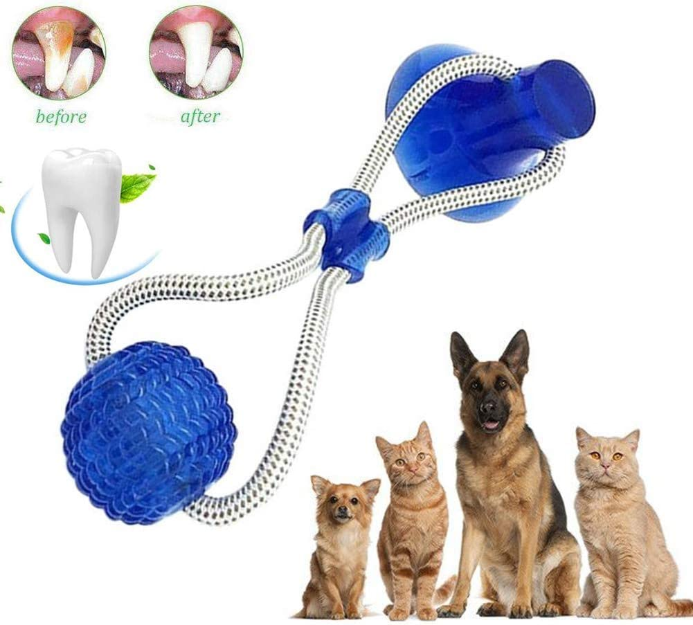 Juguete de mordida para Mascotas multifunción, Juguete de Cuerda para Tirar, Resistente, Juguete con Ventosa, Tugging, Tirar, Masticar, Jugar para Perros