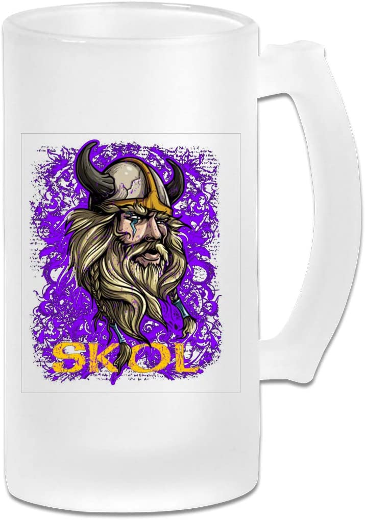 Skol Nordic Scandinavian Viking Frosted Beer Mugs Glass,Frosted Glass Beer Mugs,Frosted Beer Mug