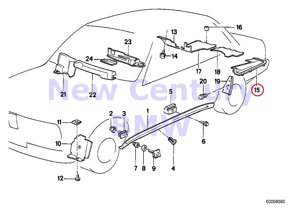 BMW Genuine Cover Door Sill Wheel Arch Door Sill Covering Right M3