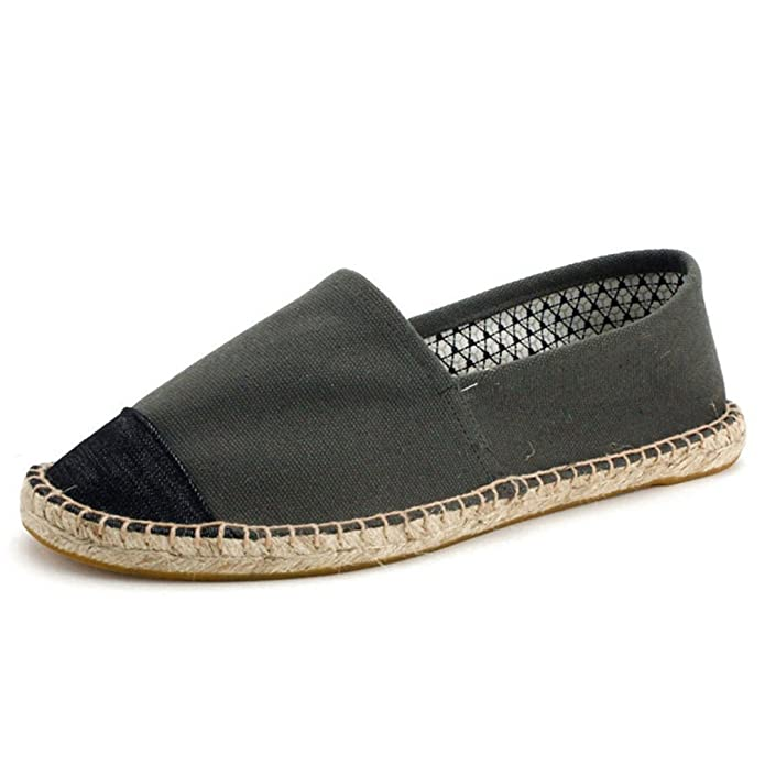 Mens Alpargatas Hombres Slip En Verano Zapatos Mocasines Transpirable Lona Zapatos De Hombre: Amazon.es: Zapatos y complementos