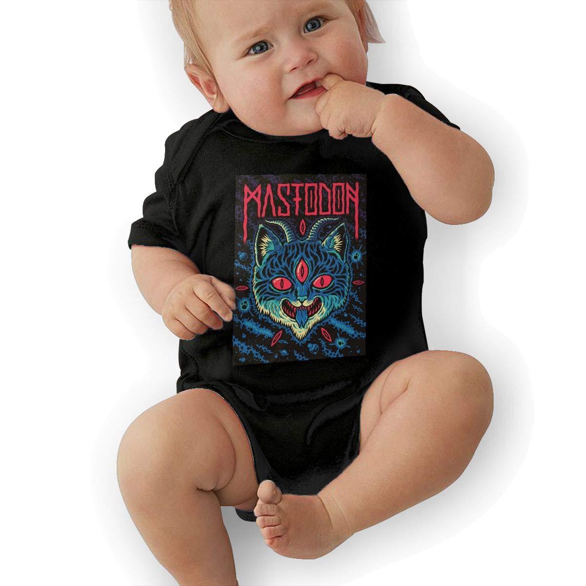 ReneaGrigsbyw Mastodon Music Band Short Sleeve Baby Bodysuit Outdoor Infant Baby Suit Gift