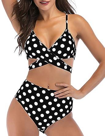 am billigsten Rabattgutschein zahlreich in der Vielfalt Eomenie Damen Bikini Sets Zweiteilige Bikini Bauchweg Badeanzug Damen Blau  Bademode