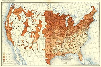 Amazoncom USA Whites Foreign Parentage Total Population US - Old us map and pics