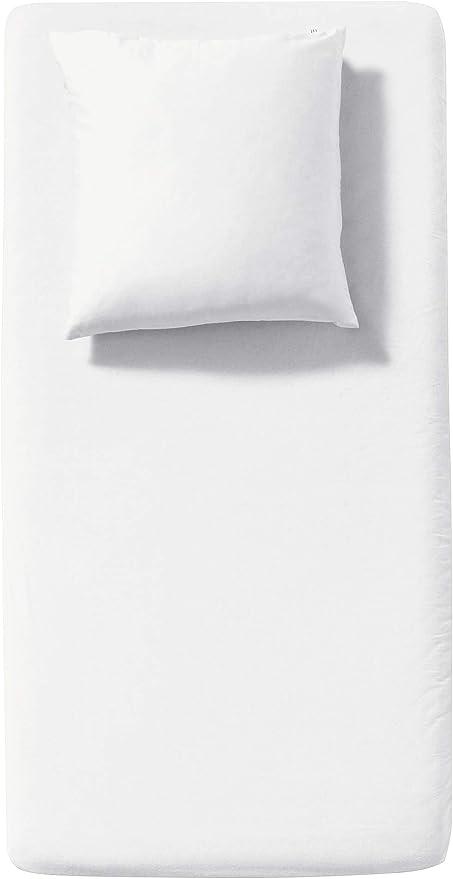 hessnatur Niños sábana bajera de franela de algodón orgánico puro, naturaleza, 45x90 cm - 50x95 cm: Amazon.es: Hogar