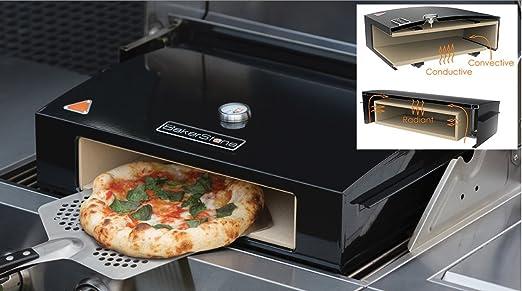Pizza para horno Bakerstone espacio en el barbacoa de Gas grande ...