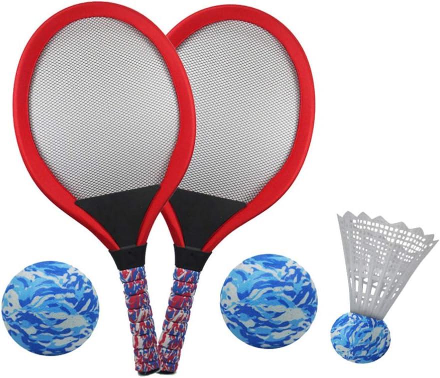 5pcs Lightweight Compact Durable Cloth Tennis Racket Beach Racket Kids Boys