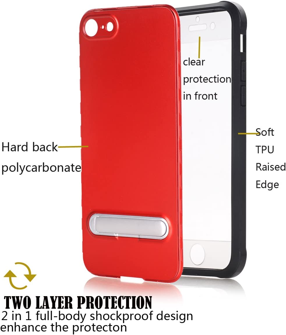 Black iPhone 6S Case Kickstand,iPhone 6 Case with Kickstand,Spevert Tough Armor Case with Kickstand High Impact Resistant Hybrid Protective Case for iPhone 6S //6 4.7 inches